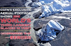CGTN's Exclusive aerial footage shows the world's third-largest glacier in Tibet