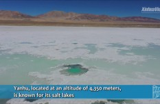 Yak Video | Amazing aerial view of salt lakes in Tibet, China