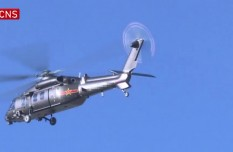 New helicopters participate in first formation flight training in Tibet