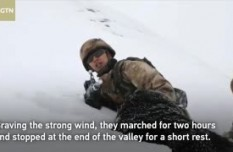 Chinese soldiers in Tibet patrol borders during Spring Festival
