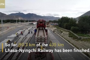 Steady progress made in building high-elevation railway in Tibet