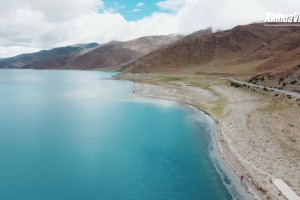 Summer scenery of holy lake in Tibet