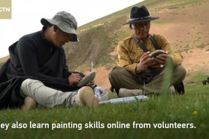 Herdsmen try to protect wildlife through painting