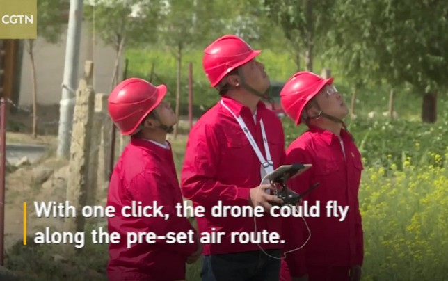 Drones facilitate power line inspection in Tibet