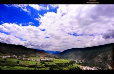 Aerial shots of Pastoral scenery of Qacheng
