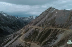 The challenge of driving along the steep cliffs on the Sichuan-Tibet Highway