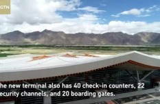Tibet's largest terminal opens for operations at Lhasa Gonggar Airport