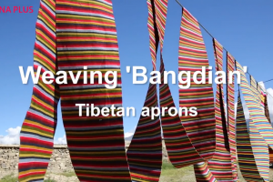 Weaving 'bangdian,' the Tibetan aprons