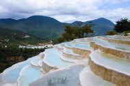 Baishuitai: Natural terraces with white color
