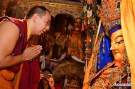 11th Panchen Lama visits Jokhang Temple in Lhasa
