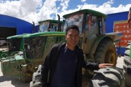 Young man in Tibet autonomous region working for dream of modern agriculture