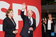 SPD leads slightly in German federal election, situation not yet clear