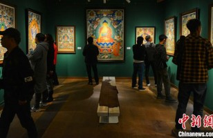 Thangka exhibition debuts in Tibet