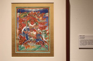 About 50 pieces of Yonghe Temple style thangkas on display in Beijing