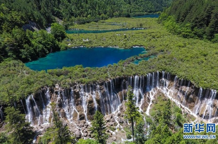 Jiuzhaigou National Park attracts tourists after reopening