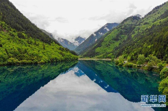 Famous Chinese scenic spot Jiuzhaigou welcomes more daily visitors