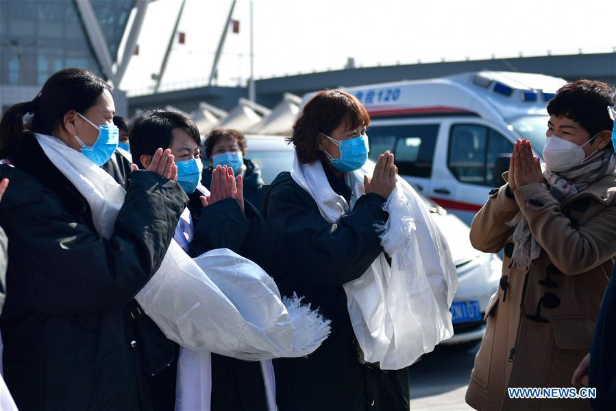 Medical team from Qinghai leaves for Wuhan to aid novel coronavirus control efforts
