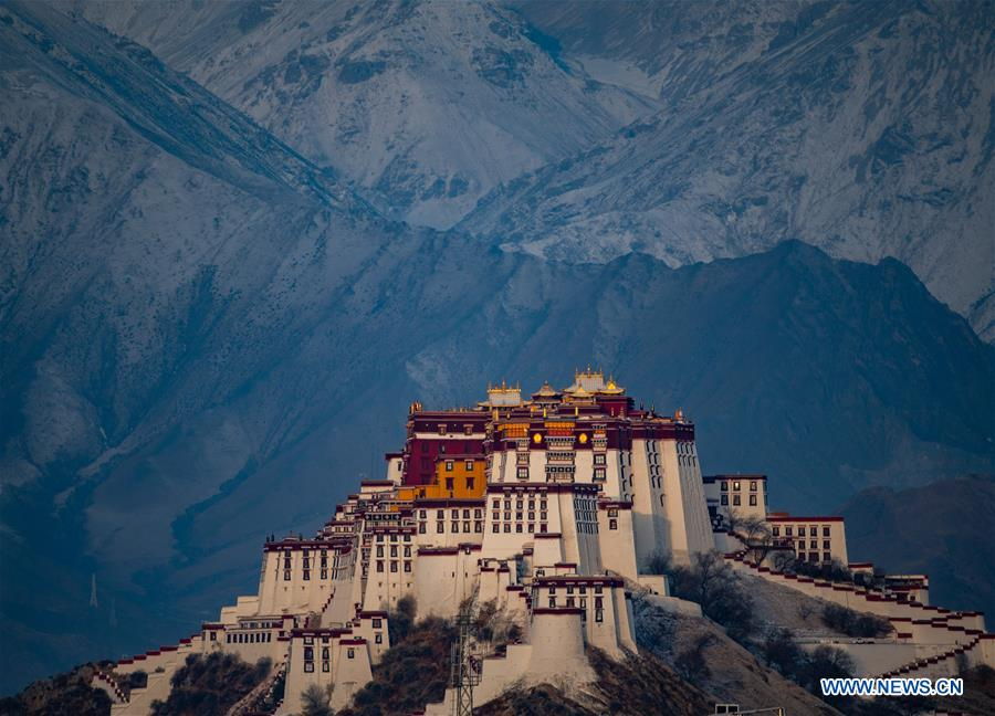 In pics: snowy weather in Tibet, China