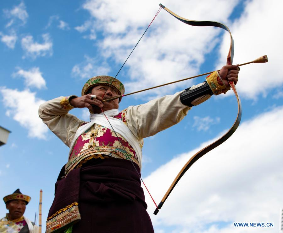 Tibet's Nyingchi holds archery competition to celebrate Gongbo New Year (II)