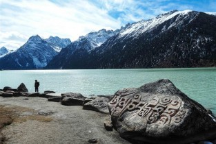 Scenery of Yulongla Co scenic spot in China's Sichuan Province