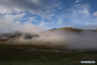Scenery of Bangda Grassland in Tibet