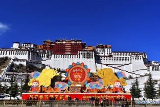 Decorations for Spring Festival, Tibetan New Year seen in Lhasa