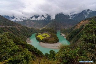 Scenery of Nujiang valley in China's Yunnan