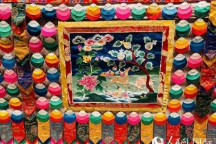 A glimpse of world's longest thangka painting
