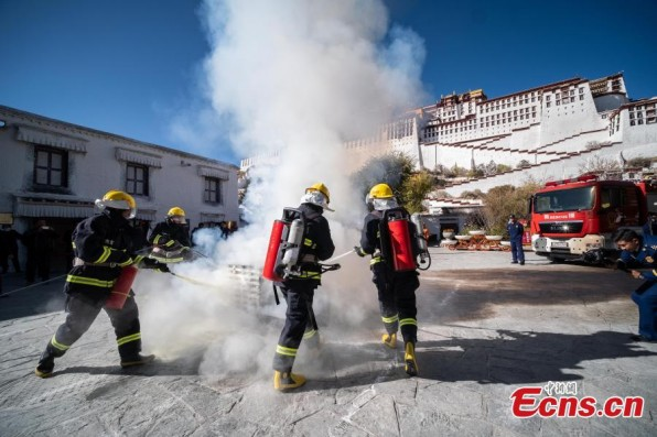Fire training held to improve safety of Potala Palace